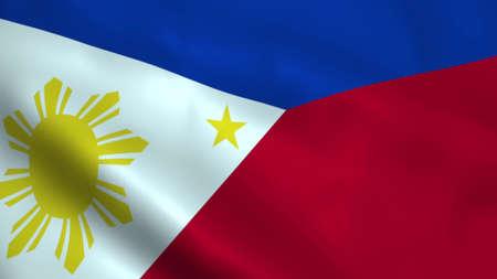 Realistic Philippines flag
