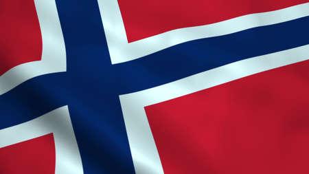 Realistic Norwegian flag