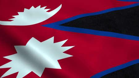 Realistic Nepal flag Фото со стока - 100424621
