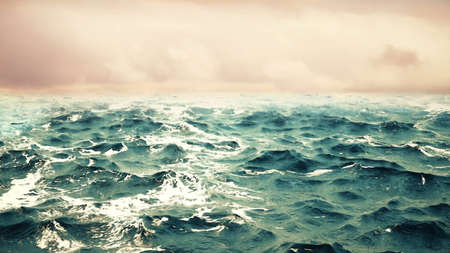 ocean waves with sky on the background. .