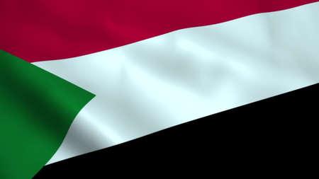 Realistic Sudan flag 3D rendering Reklamní fotografie