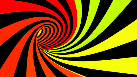Hypnotic abstract spiral colorful illusion