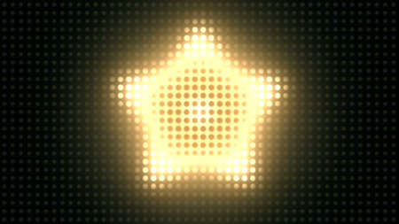 Strobe Lights Flashing VJ. Wall of Lights Stage. Banque d'images