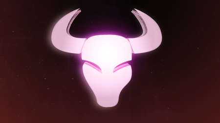Zodiac signs Taurus and beautiful background for presentations, video intro, horoscope, films, transition, titles and much more. 3D rendering