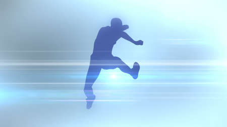 An abstract silhouette of sports discipline. 3D rendering