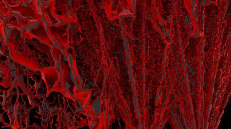 Streams of splashing organic blood Фото со стока