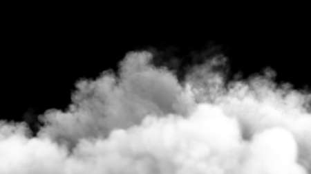 An increasing cloud of Smoke after a strong explosion and shock wave. 3D Rendering Imagens