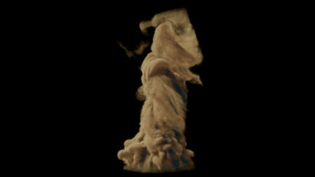 Realistic sand tornado in the desert. 3D Rendering