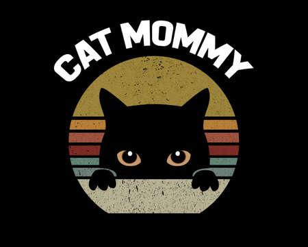 Cat Mommy / Beautiful Text Design Poster Vector Illustration Art