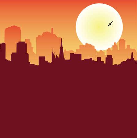 Urban Scene Series - Skyline Stock Vector - 6345308