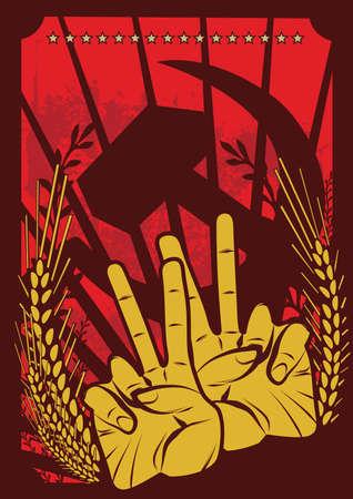 conflictos sociales: Serie de afiches de propaganda