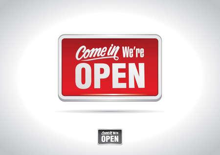 Open Sign Icon Illustration