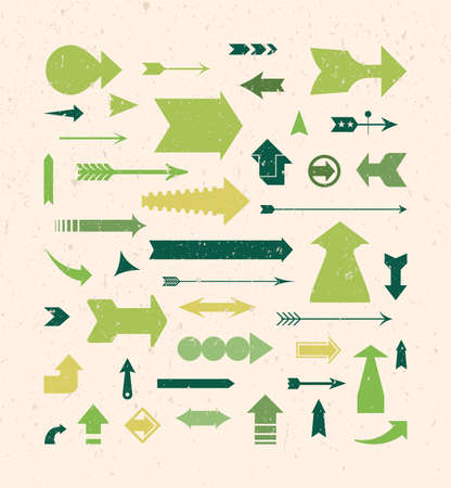 Vintage Arrows Set Stock Vector - 9867918