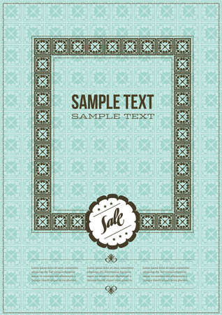 Vintage Cover Design Stock Vector - 9867921