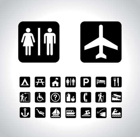 pictograph: Set di icone in viaggio