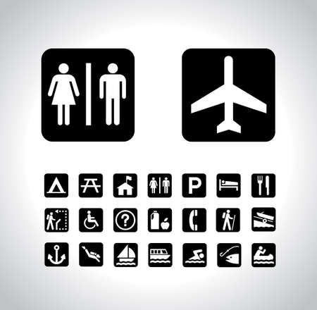 Traveling Icon Set Vector