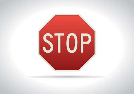 Stop traffic sign icon Illustration