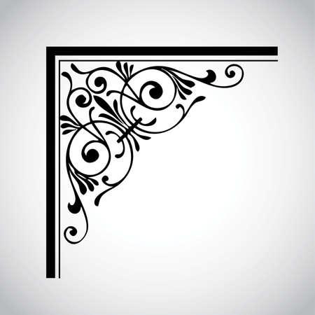 Elemento de diseño Vintage decorativo  Ilustración de vector