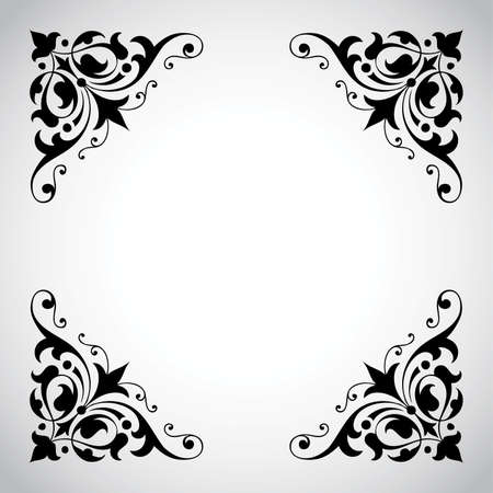 corner ornament: Decorative Vintage Frame with Copy Space Illustration