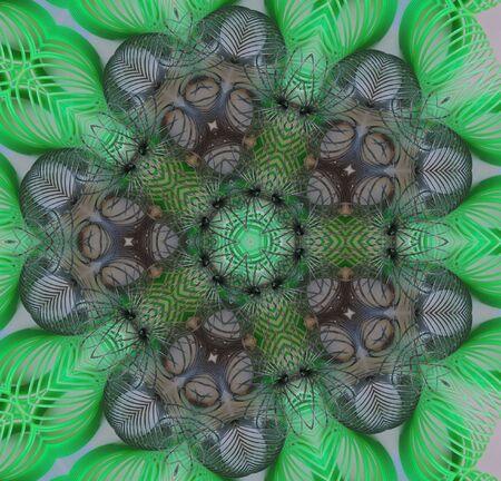 Springs in a kaleideoscope design