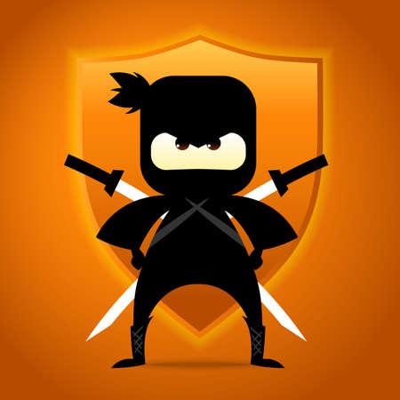 Ninja Warrior Illusztráció
