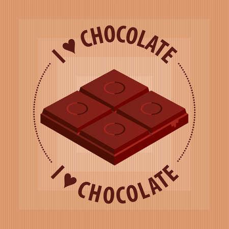 I love Chocolate Illusztráció