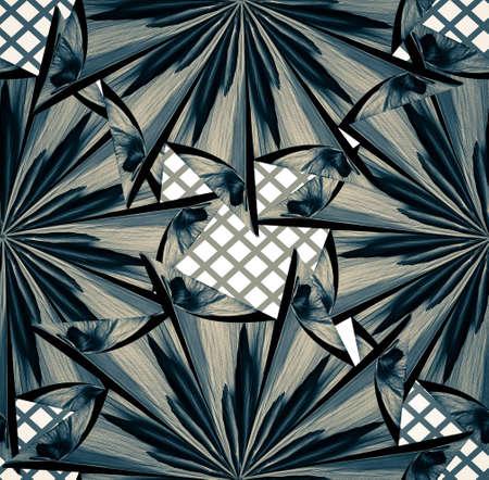 mandala shaped seamless pattern design
