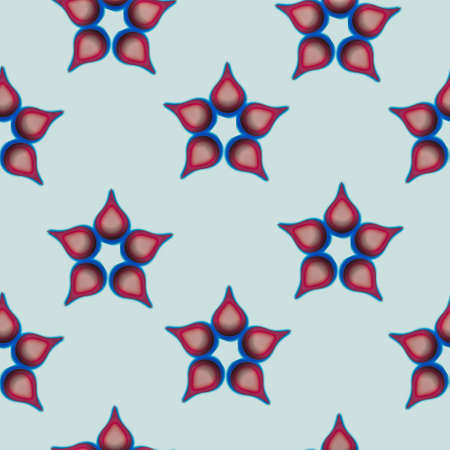 3d effect five patals flower shaped seamless design
