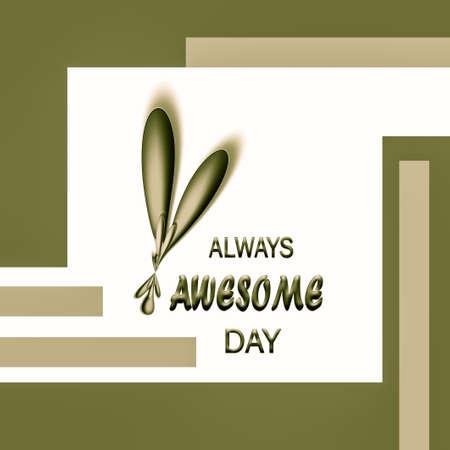3d   positive affirmation word and design