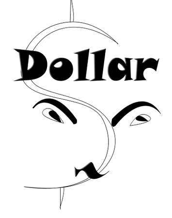dollar word and  clip art