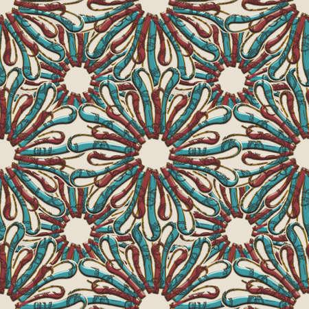 3d textured flourish shape seamless Archivio Fotografico
