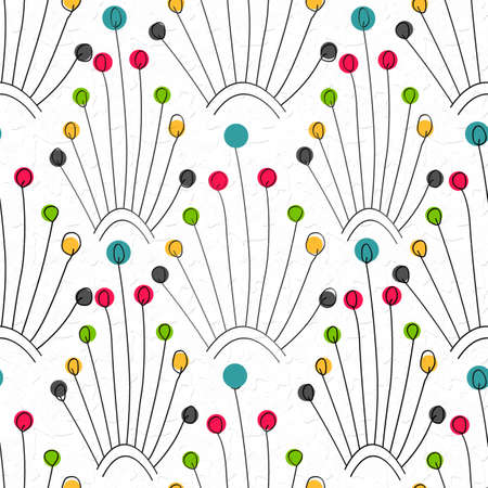 colorful baloon and thread  shaped  wallpaper