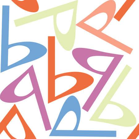 p shape seamless pattern design work