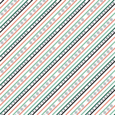 cross line star flower shaped seamless pattern