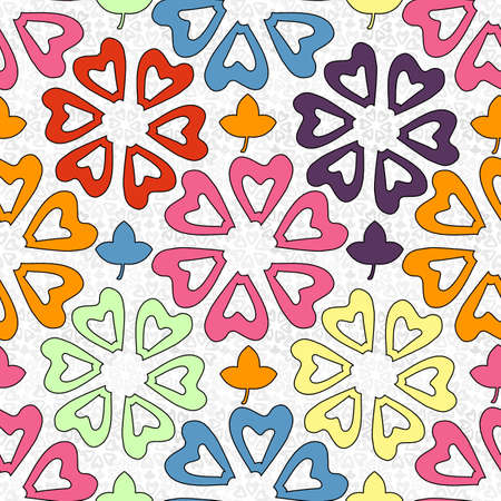 flower shaped colorful seamless pattern Stock fotó