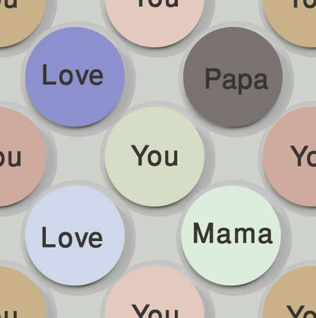 mother and father text based seamless pattern