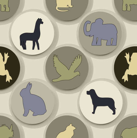 animal shape pattern seamless work Stock fotó