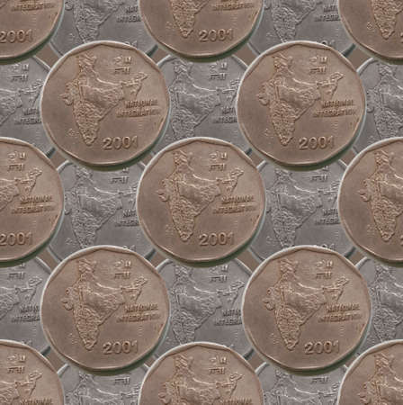 indian coin seamless pattern design