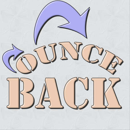 bounce back  text and textured based background