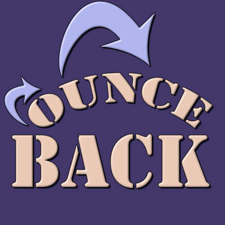 bounce back  text and textured background