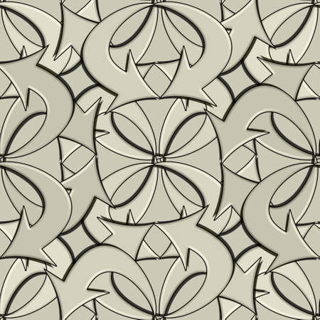 official based seamless pattern work