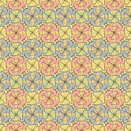 official and textile based seamless pattern