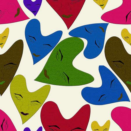 textured based love shape seamless pattern Stock fotó