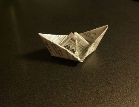 hand made paper boat craft