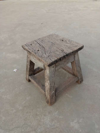 old-fashioned wooden stool