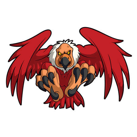 Águila, buitre, halcón, cóndor, animal salvaje, vector, mascota, ilustración Ilustración de vector