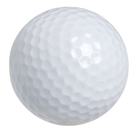 Golf ball isolated on white background with clipping path