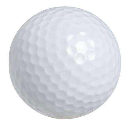 Pallina da golf isolato su sfondo bianco con percorso di clipping