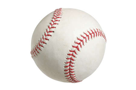 Major League baseball isolated on white background with clipping path Stock Photo - 15076374