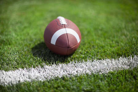 college football: College football at the goal line with defocused background